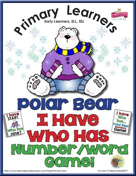 Polar Bear I Have Who Has Numbers Game - Number Words and Numerals