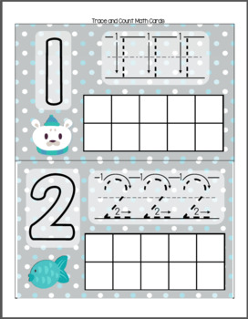Polar Bear Ice Fishing - Counting to Ten Math Pack