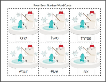 Polar Bear Ice Fishing - Fishing for Math Words