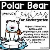 Polar Bear Literacy Centers for Kindergarten