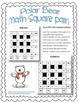 Polar Bear Math Square Pair! ~ Winter Theme 4x4 Intermediate Math Square Pair