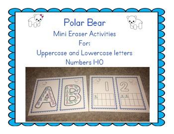 Polar Bear Mini Eraser activities