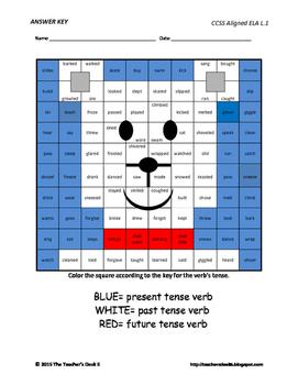 Polar Bear Mystery Picture Verb Tenses