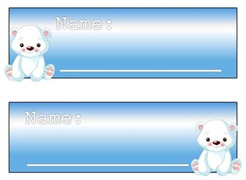 Bear Nametag//Labels