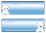 Polar Bear Name Tag Collection