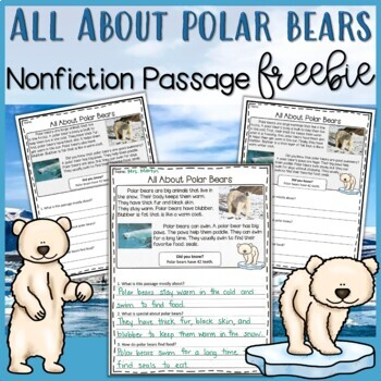 Polar Bear Nonfiction Passage FREEBIE - Distance Learning