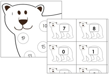 Polar Bear Number Match