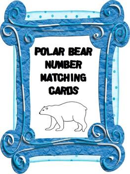 Polar Bear Number Matching Cards