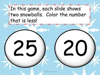 Polar Bear Numbers that are Less Than - Watch, Think, Color Game!