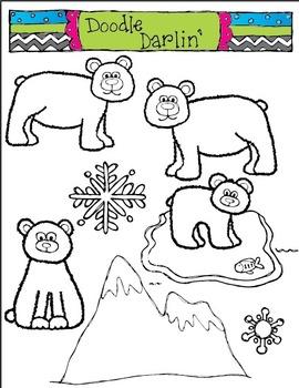 Polar Bear Palooza BLACK & WHITE Set