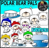 Polar Bear Pals Clip Art Set {Educlips Clipart}
