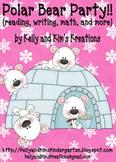 Polar Bear Party! {reading, writing, math, & more!}
