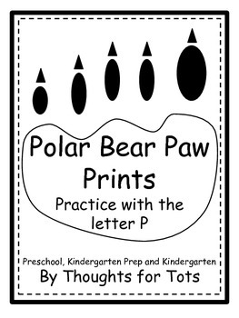 Polar Bear Paw Prints - Practice With the Letter P