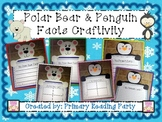 Polar Bear & Penguin Facts Craftivity {Includes Graphic Organizers}