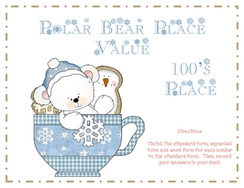 Polar Bear Place Value - 100's Place