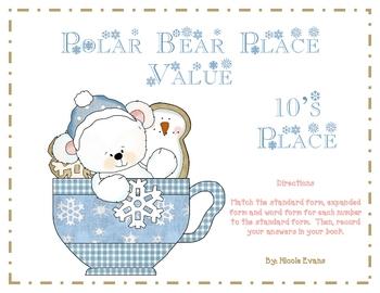Polar Bear Place Value - 10's Place