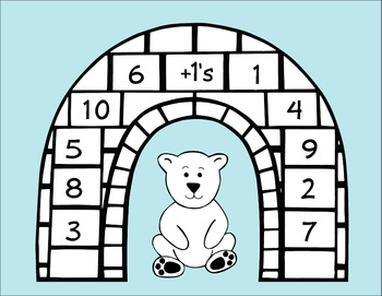 Polar Bear Plus 1's Addition Game