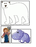 Polar Bear animal story felt board sequencing books