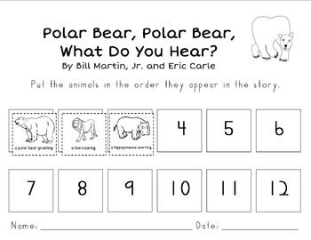 Polar Bear, Polar Bear Story Sequencing by Kindergarten Kreative