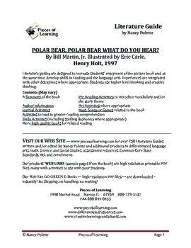 Polar Bear, Polar Bear What Do You Hear Literature Guide