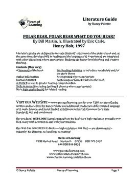 Polar Bear, Polar Bear What Do You Hear Literature Guide