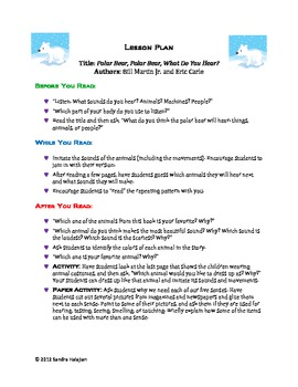 Polar Bear Polar Bear What Do You Hear Activities Teaching Resources ...
