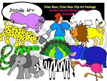 Polar Bear Clipart Pack
