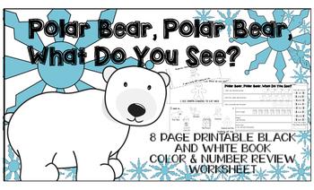 Christmas Printable Book Color Number Worksheet