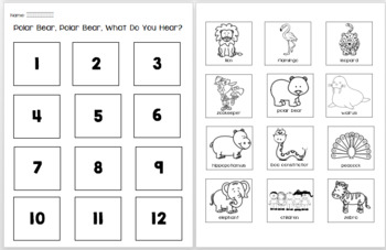Polar Bear, Polar Bear, What do you hear? Book companion/ELA & NGSS activities