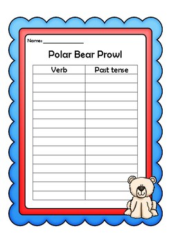 Polar Bear Prowl Past Tense Game