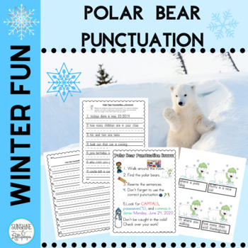 Winter Activities Punctuation Read the Room Punctuation for 1-2