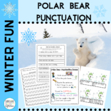 Punctuation Practice Read & Write the Room Cards and Worksheets Winter Themed