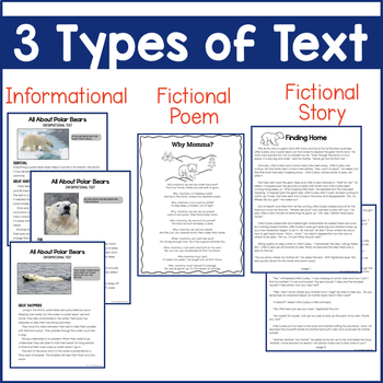 Polar Bears {Informational Text, Story, and Poem}