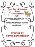 Polar Bear Reindeer Place Value Concentration Game
