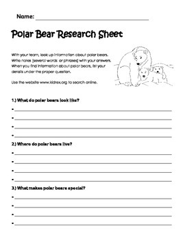Polar Bear Research Page