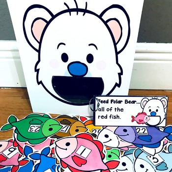 "Polar Bear Sensory Bin Activities:  ""Feed Polar Bear"""