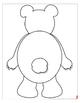 Polar Bear Shape Book with Primary Lines & Bonus Movable, Hinged Polar Bear