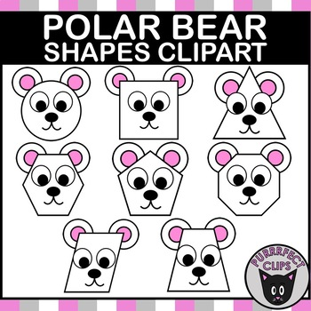 Polar Bear Shapes Clip Art