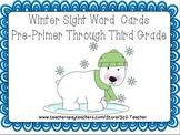 Polar Bear Sight Word Flashcards Pre-Primer Through Third Grade (POW! Cards Too)