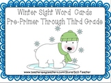 Polar Bear Sight Word Flashcards Pre-Primer Through Third