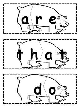 Polar Bear Sight Word Match
