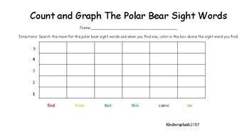 Polar Bear Sight Words Graphing
