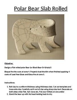 Polar Bear Slab Rolled Clay Project