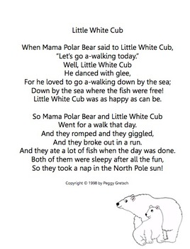 polar bear song little white cub musical drama by marlypeg. Black Bedroom Furniture Sets. Home Design Ideas