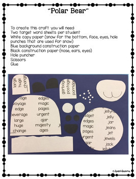 Polar Bear Winter Speech Therapy Craft {articulation craftivity}