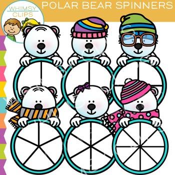 Polar Bear Spinners Clip Art
