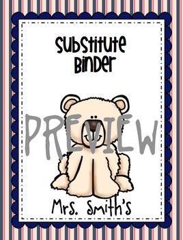 25 Polar Bear Teacher Binder EDITABLE