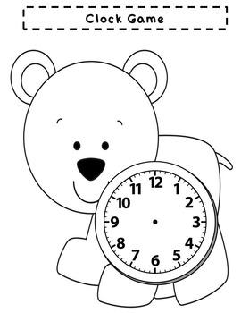 Polar Bear Telling Time Game