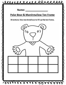 Polar Bear Ten Frame Activity