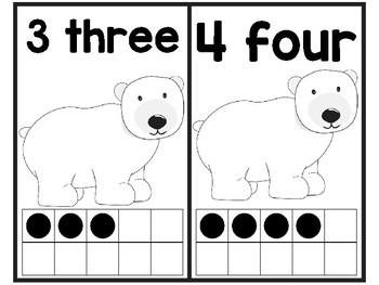 Polar Bear Ten Frames